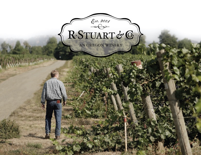 R Stuart & Co's Rob Stuart in the vineyards