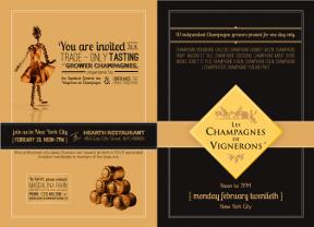 Ubifrance Champagne Tasting Invite